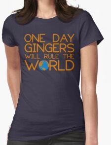 Funny Ginger Hair T Shirt - One Day Gingers Will Rule The World T-Shirt