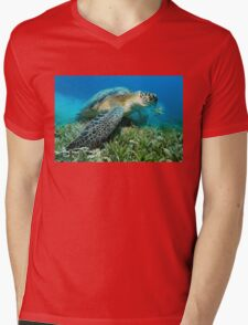 The Vegetarian Mens V-Neck T-Shirt