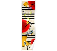 birds on my skateboard Poster