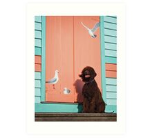 Irish Water Spaniel - Bird Dog Art Print