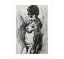 Regena standing looking away Art Print