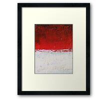 Simply Red 3 Framed Print