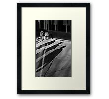 3 on 3  Framed Print