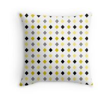Black and Gold Abstract Pattern Throw Pillow