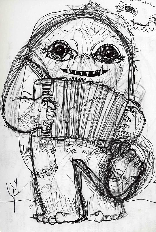 Abominable Sketch by Alex e Clark