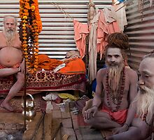 Sadhus. Allahabad by Claude  Renault
