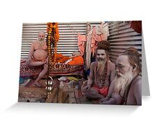 Sadhus. Allahabad Greeting Card