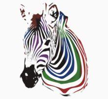 technicolour zebra Kids Tee
