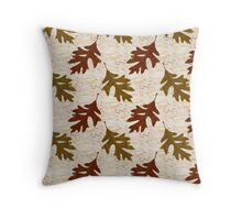 Oak Leaves Abstract Art Throw Pillow