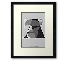 Typography Art A7 Framed Print