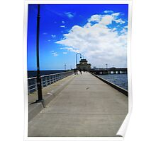 St Kilda Pier for an icecream, Victoria Australia Poster