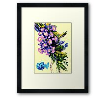 Bermuda Royal Flora Print Framed Print