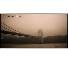 Misty Hudson River Photographic Print