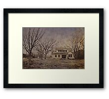 Spooky old house Framed Print