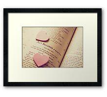 Shakespeare Love Framed Print