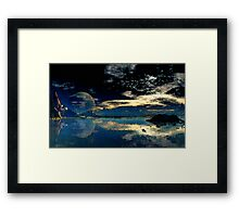 Sundown - Geesh Lake Framed Print