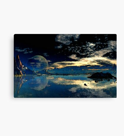 Sundown - Geesh Lake Canvas Print
