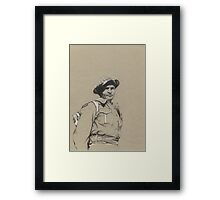 Charles Upham VC and Bar Framed Print