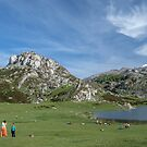 Sunday at Lake Ercina by Chris Allen