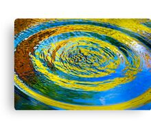 Colorful Water Abstract Canvas Print