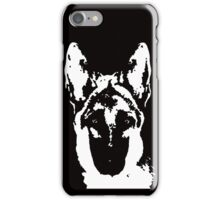 German Shepherd Black & White Stencil iPhone Case/Skin