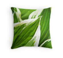 Green Leaves Abstract Throw Pillow