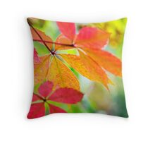 Colorful Leaf Art Throw Pillow