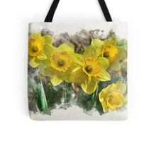 Spring Daffodils Watercolor Art Tote Bag