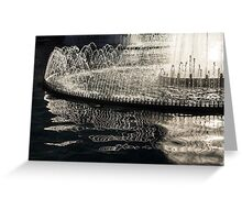 Dancing Silver Fountains Greeting Card
