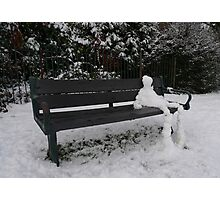 Snow Dude Photographic Print