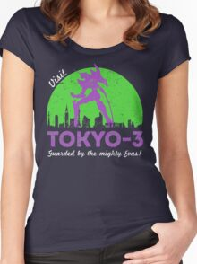 Visit Tokyo-3 Women's Fitted Scoop T-Shirt