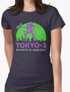Visit Tokyo-3 Womens Fitted T-Shirt