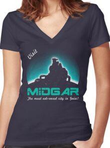 Visit Midgar Women's Fitted V-Neck T-Shirt
