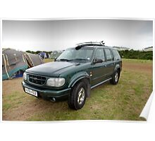 Ford Explorer Surfer and Camping Poster