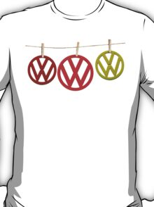 VW Badges Drying on the Line T-shirt T-Shirt
