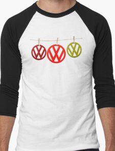 VW Badges Drying on the Line T-shirt Men's Baseball ¾ T-Shirt