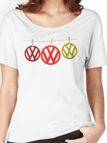 VW Badges Drying on the Line T-shirt Women's Relaxed Fit T-Shirt