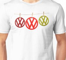 VW Badges Drying on the Line T-shirt Unisex T-Shirt