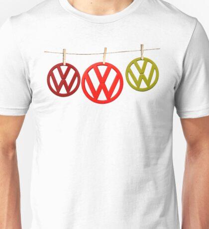 VW Badges Drying on the Line T-shirt Unisex T-Shirt