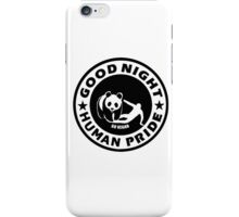 GOOD NIGHT HUMAN PRIDE - GO VEGAN iPhone Case/Skin