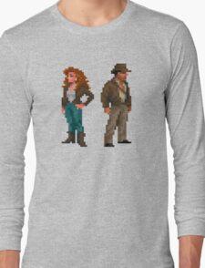Indiana Jones - pixel art Long Sleeve T-Shirt