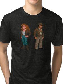 Indiana Jones - pixel art Tri-blend T-Shirt