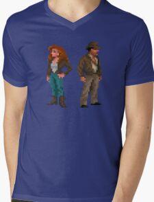 Indiana Jones - pixel art Mens V-Neck T-Shirt