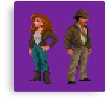 Indiana Jones - pixel art Canvas Print