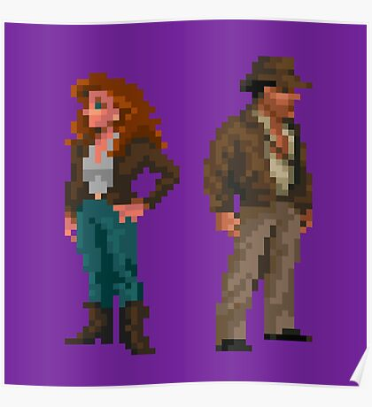 Indiana Jones - pixel art Poster