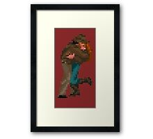 Indiana Jones - pixel art Framed Print