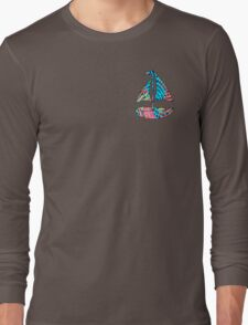 Lilly Pulitzer Inspired Sailboat - Electric Feel Long Sleeve T-Shirt