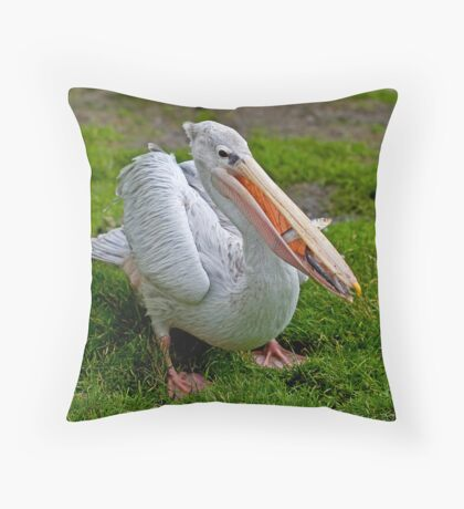 A Wonderful Bird is the Pelican... Throw Pillow