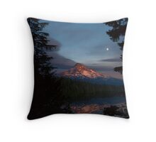 Card: Mount Hood Sunset Over Lost Lake Throw Pillow