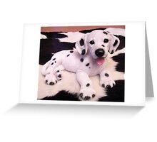 Dalmatian Puppy  Greeting Card